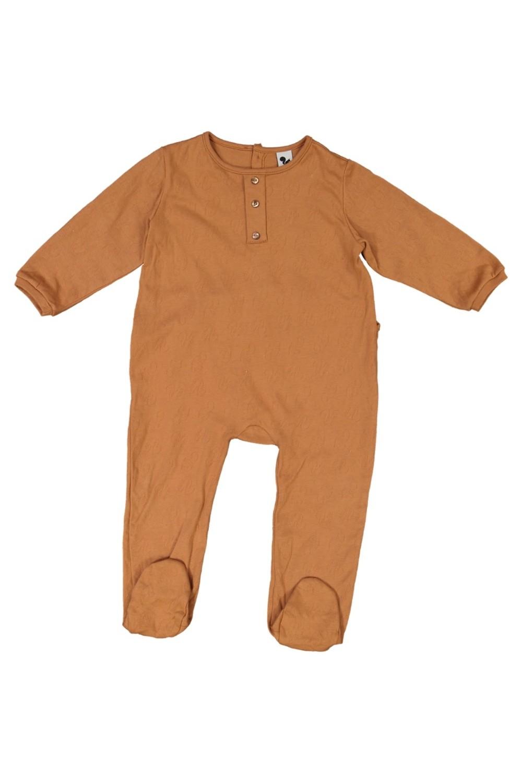 pyjama bébé coton bio risu risu domino avec pied