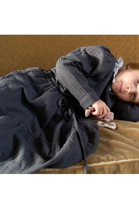 jupe fantaisie fille risu risu gris coton bio