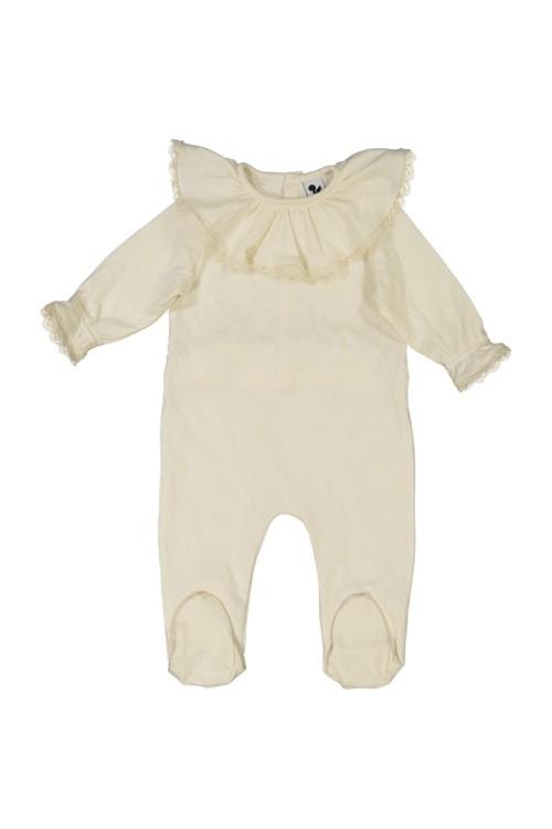 pyjama bébé coton bio écru ballerine