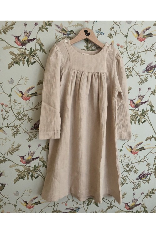 organic nightdress cotton girl felicity sand risu risu