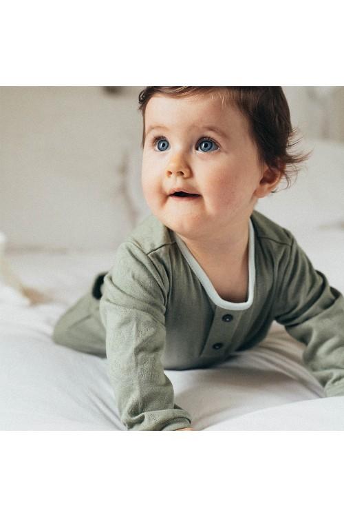 pyjama coton bio vert kaki risu risu mixte