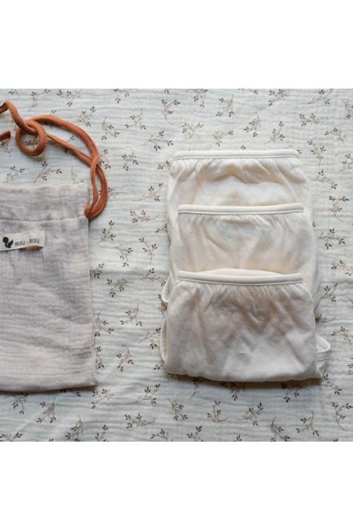 pack de culottes fille coton bio risu risu