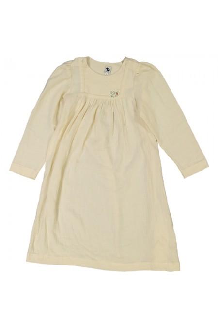 chemise de nuit fille crème brodée coton bio félicité
