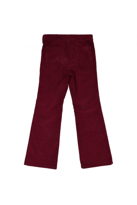 pantalon jane fille velours marron risu risu