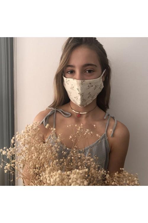 masque enfant en tissu de gaze bio airelle