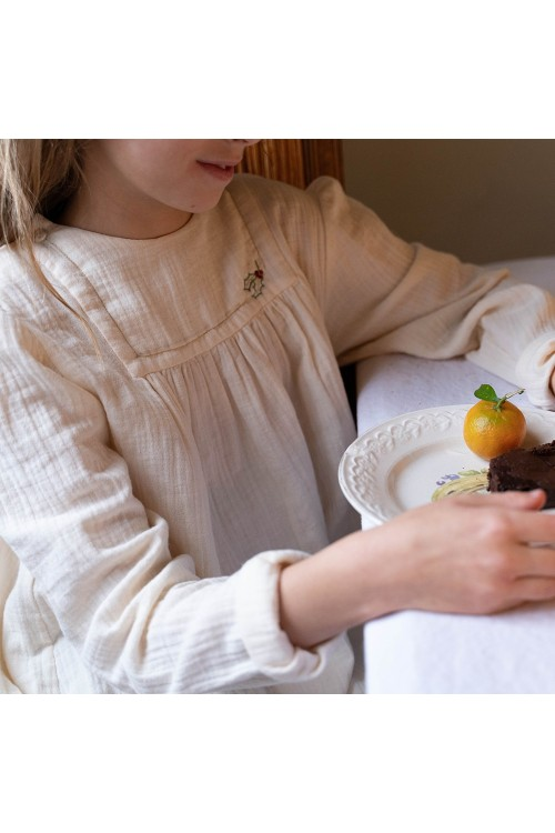 chemise de nuit coton bio félicité risu risu
