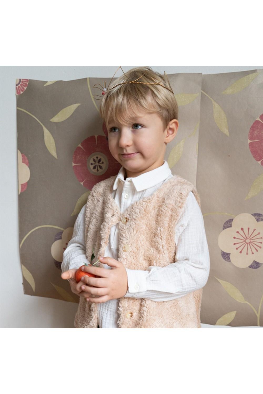 chemise garçon en coton bio blanc spoutnik