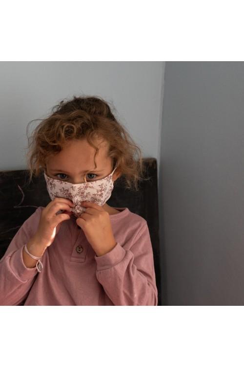 masque anti-covid pour enfant en tissu de coton bio
