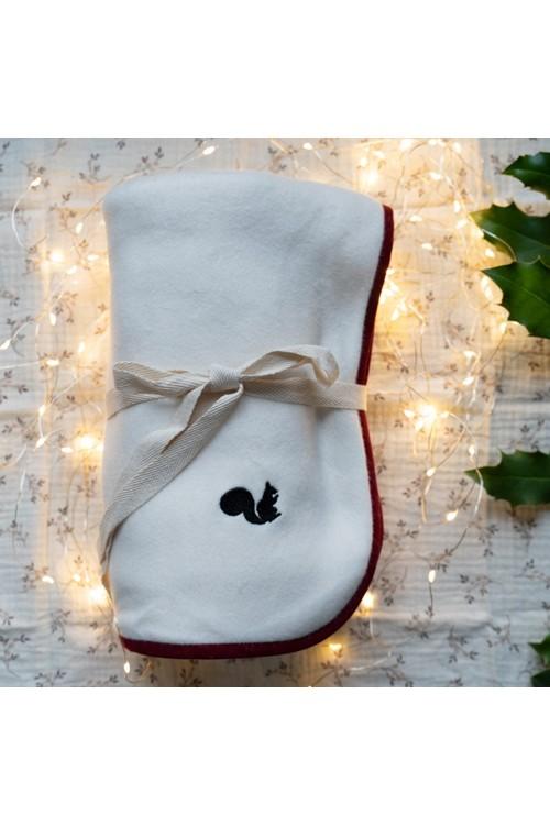 couverture bébé douce coton bio écru risu risu
