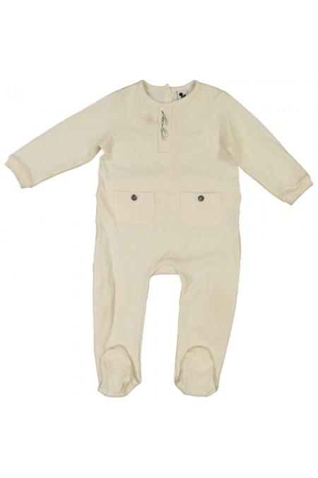 pyjama bébé de noël coton bio brodé gui
