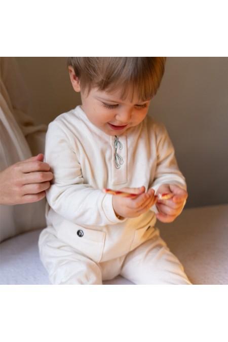 pyjama bébé noël coton bio brodé