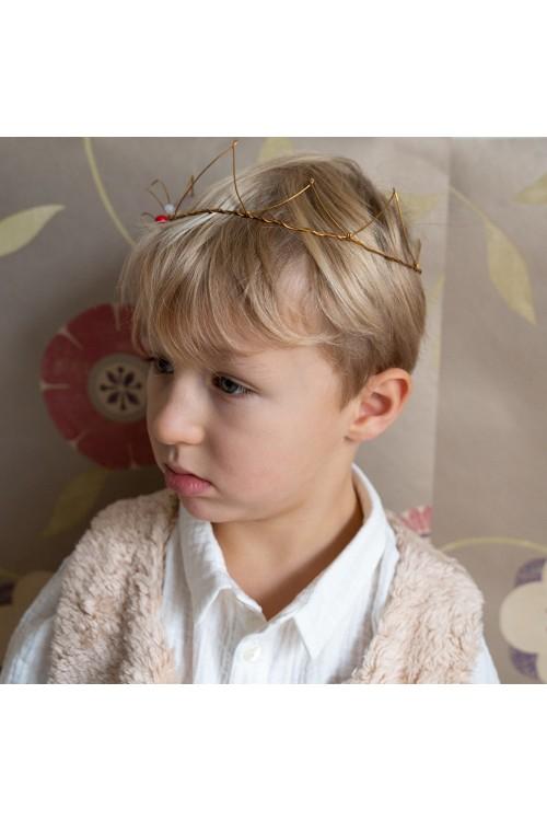 couronne enfant roi dorée