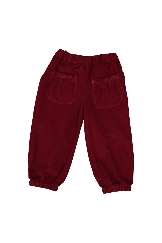 Pantalon velours rouge 100% bio arrière