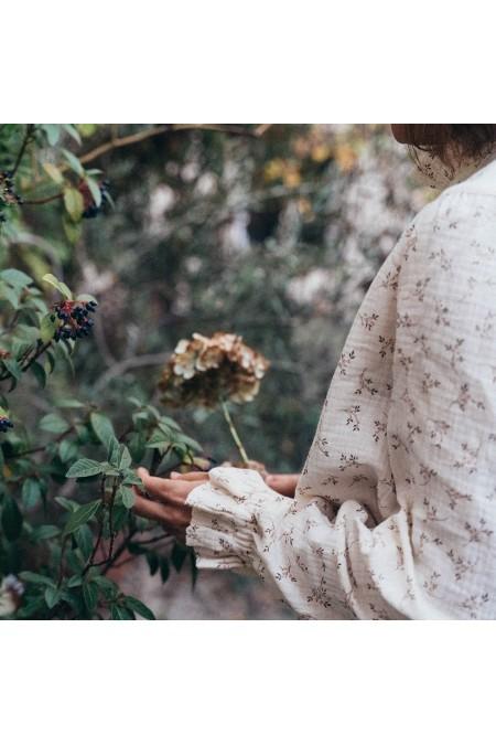 chemisier femme rqisu rose romance gaze bio fleurs