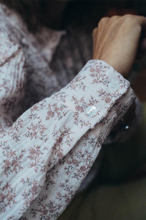 blouse femme coton bio ibiscus risu risu