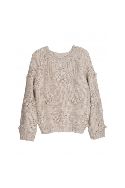 Hanknitted wool jumper