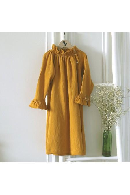 Chemise de nuit fille jersey de coton 100% bio  gold