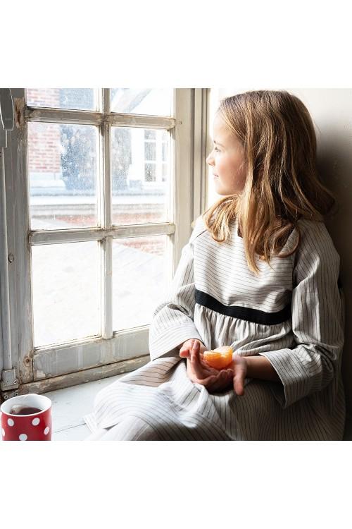 organic girl winter grey ribambelle dress