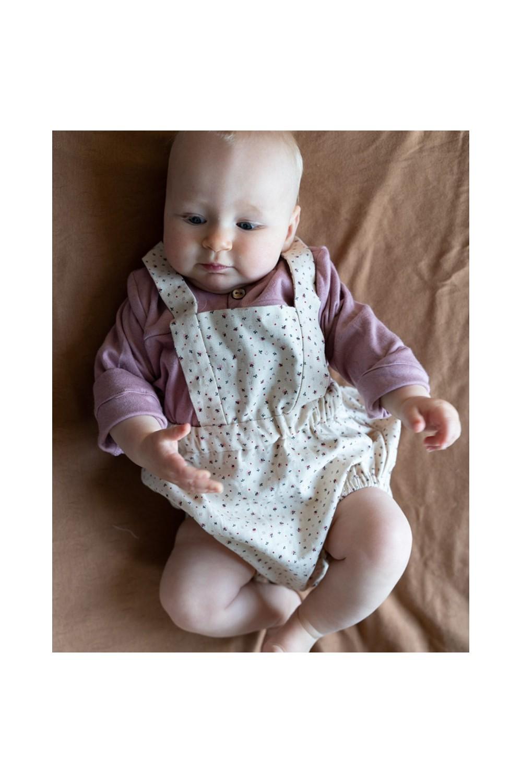 barboteuse charmille bébé coton bio plumetis