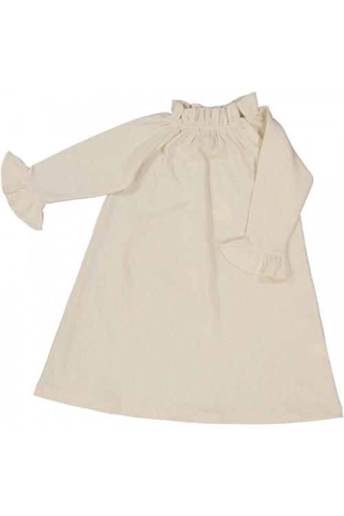 Chemise de nuit jersey de coton 100% bio  papyrus - écrue