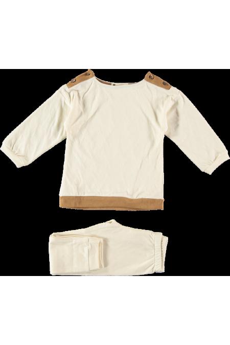 pyjama garçon coton bio crème hiver dandy risu risu