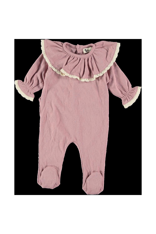 pyjama bébé ballerine coton brio risu risu rose colchique