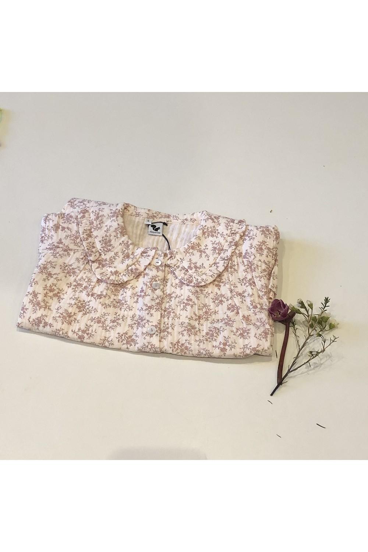 blouse femme lange rose fleurs coton bijou ibiscus
