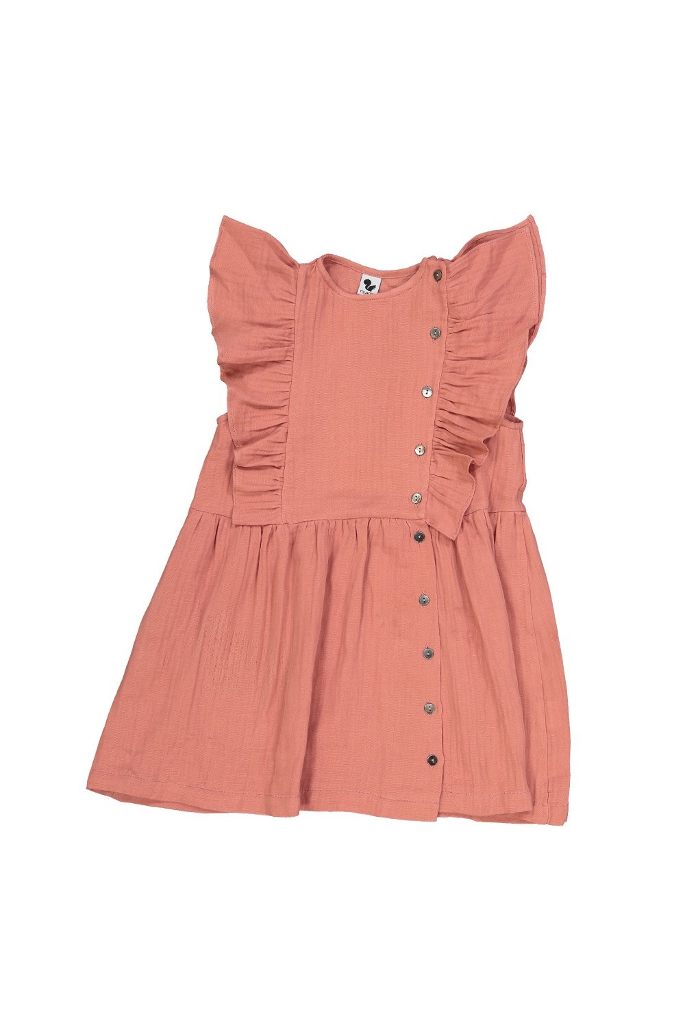 red organic cotton girl's alizee summer dress