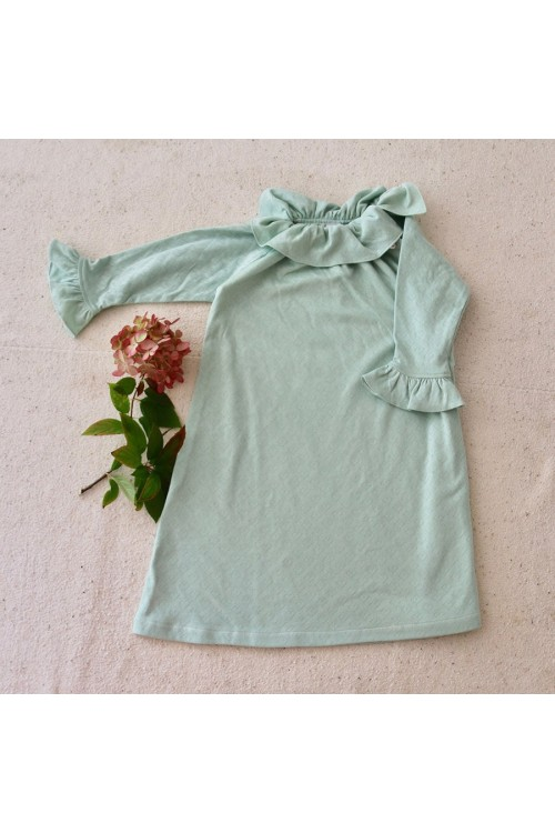 Organic cotton green nightdress