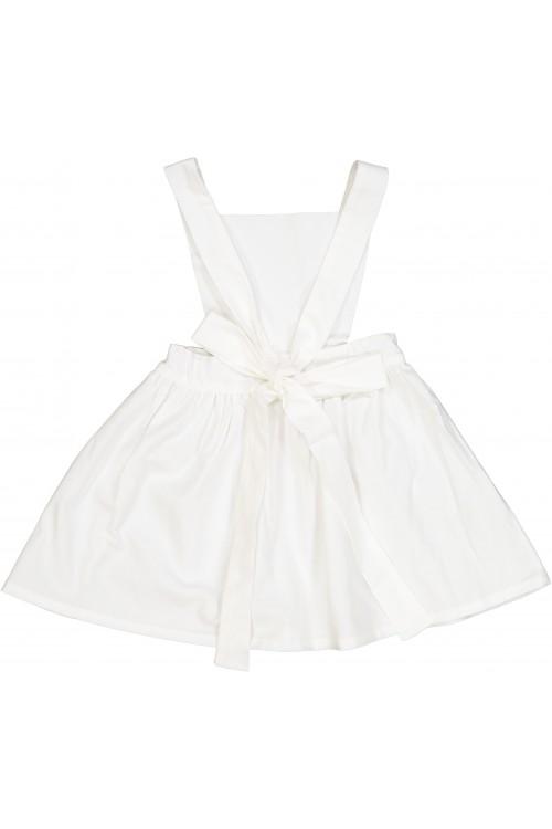 robe fille été toile blanche bretelles