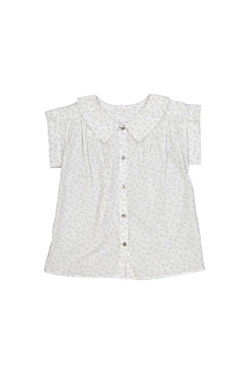 blouse fille été coton léger bio rétro