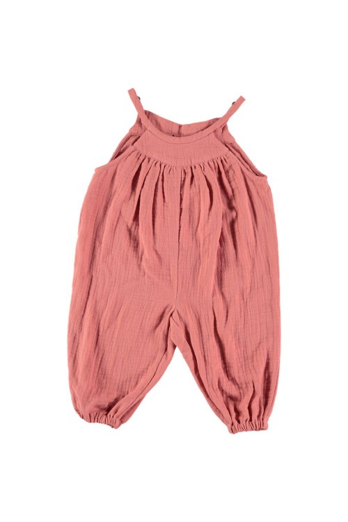 jumpsuit summer baby marelle cotton organic red
