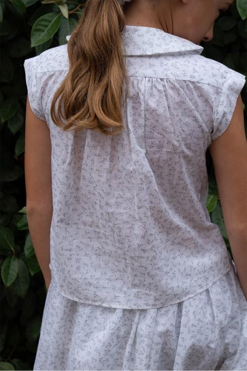 blouse été fille retro coton bio léger risu risu