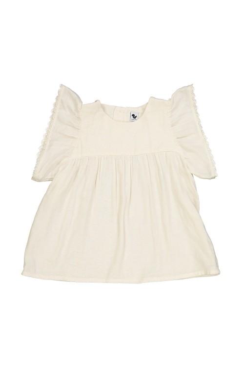 blouse bébé été coton bio petal aquafoam