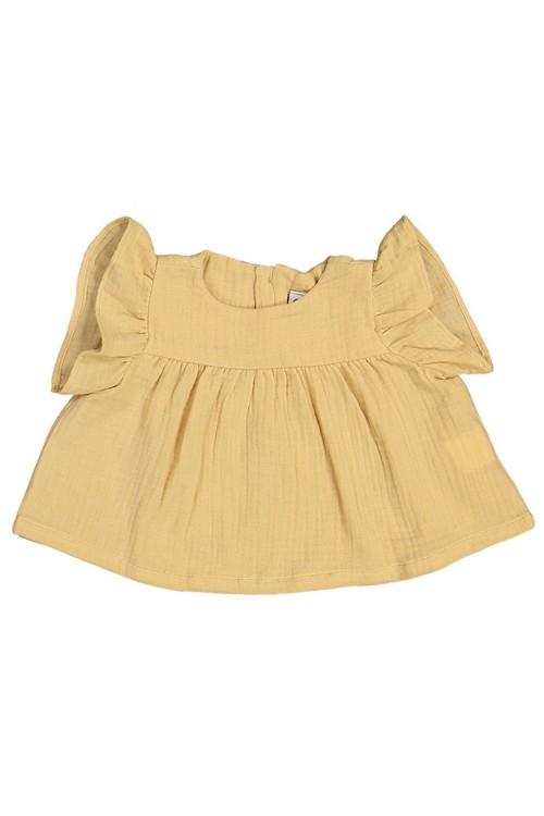 blouse petal bébé petal pollen coton bio