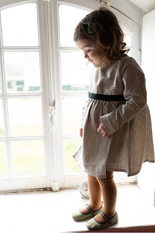 robe bébé hiver ribambelle coton bio rayé