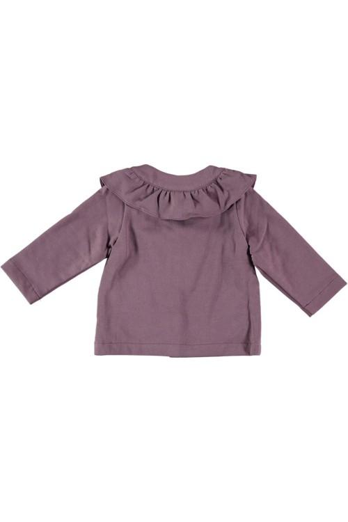 cardigan fille coton bio herbier violet