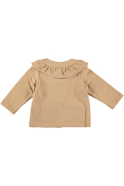 sweat fille coton bio beige