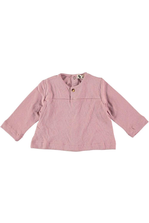 chemise bébé peintre jersey rose colchik