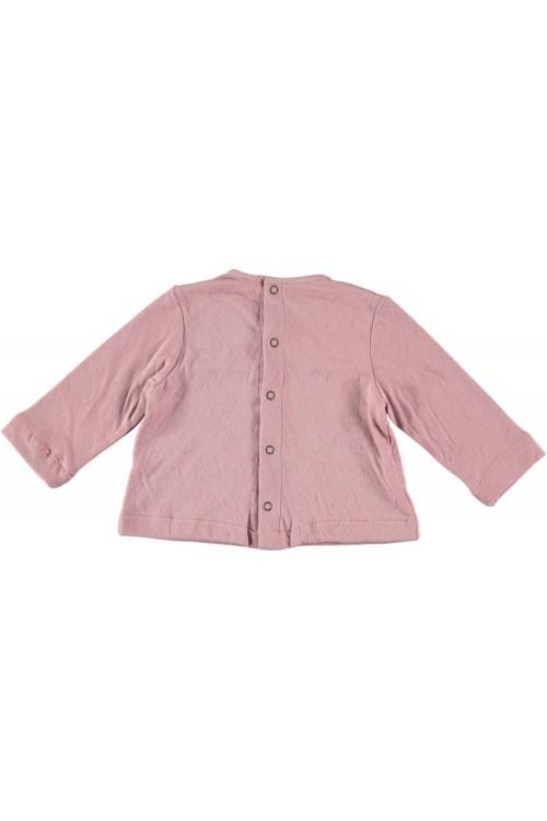 t shirt bébé coton bio certifié gots rose