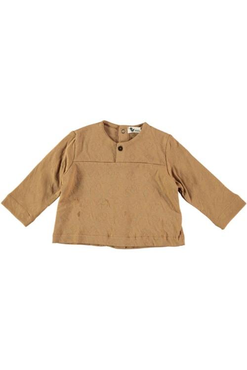 chemise bébé peintre marron roots bio
