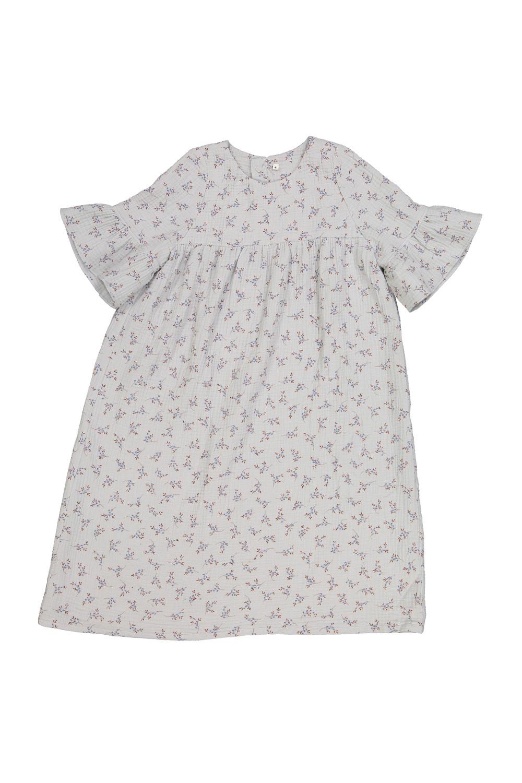 chemise de nuit fille fleurs grey berry coton bio