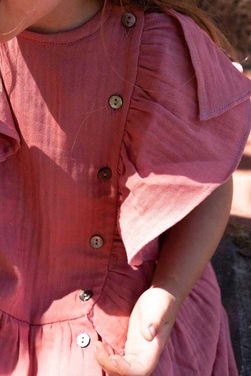 robe risu risu chic été en coton rouge