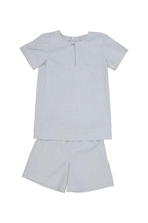 pyjamas boy blue cotton organic