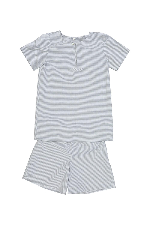 pyjama garçon bleu coton bio