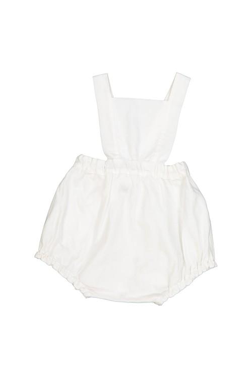 romper baby summer organic white