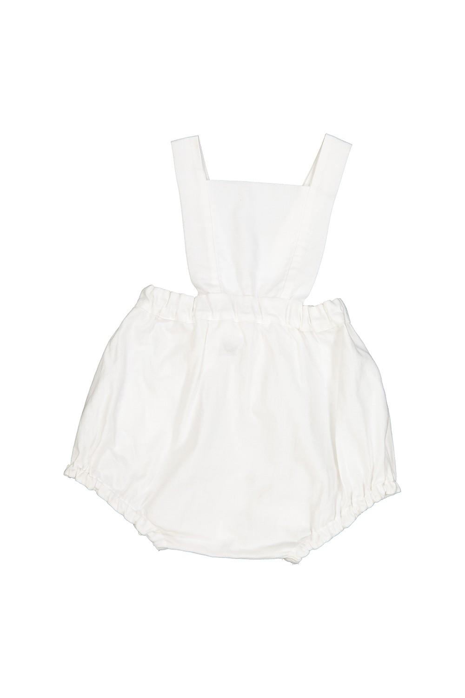 combinaison bébé calella coton bio blanc cloud