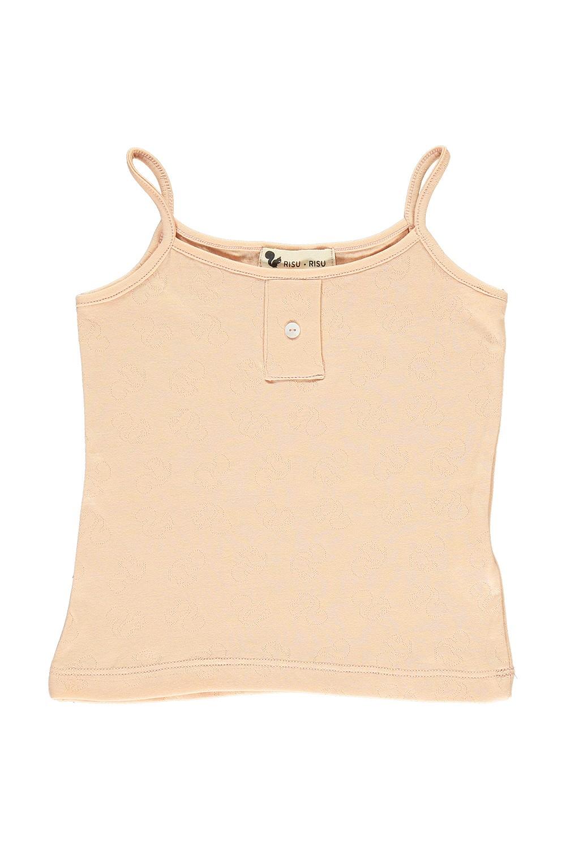 chemisette bio fille tranquille rose seashell