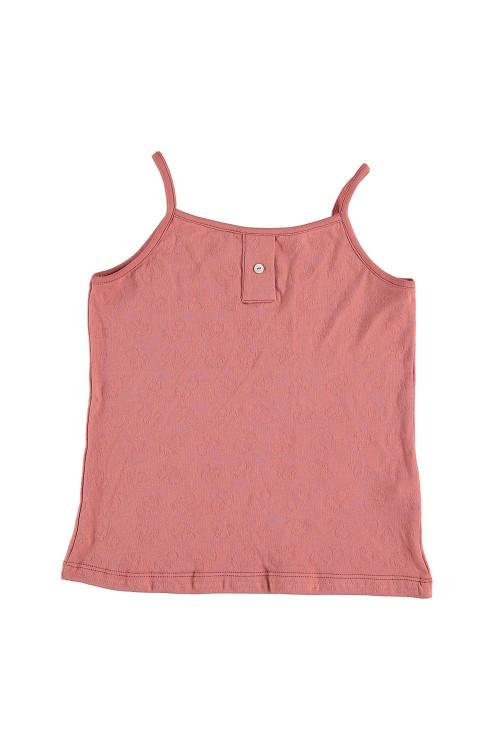 chemisette fille tranquille coton bio rouge parasol