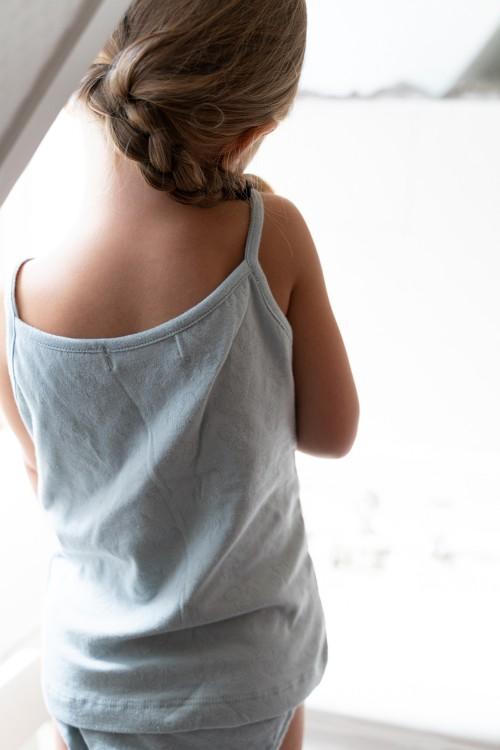 chemise fille tranquille risu.risu fines bretelles